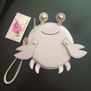 Betsey Johnson Pink Crab Wristlet NWT